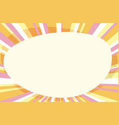 comic bubble copy space pop art vector image