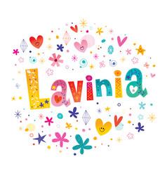Lavinia girls name vector