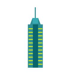 Urban skyscraper isolated icon vector