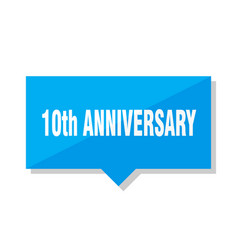 10th anniversary price tag vector