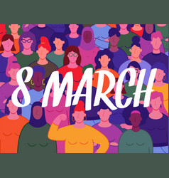 8 march background group women s with vector