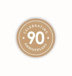 90 years anniversary celebrating retro vintage vector