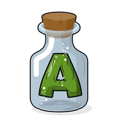 A letter in bottle for experiments Letter in vector image
