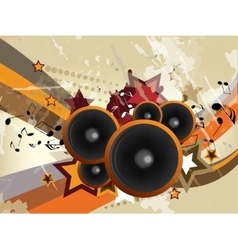 Abstract urban music background with grunge vector