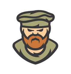 Afghanistan man cartoon vector