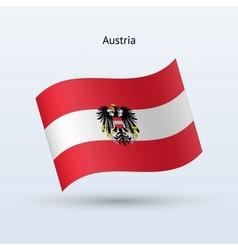Austria flag waving form vector