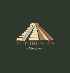banner with mesoamerican pyramids in mexico vector image