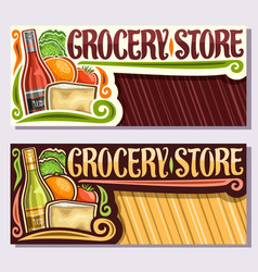 Banners for grocery store vector