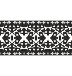 black-and-white gothic floral pattern vector image