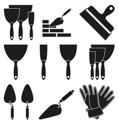 black white 9 wall construction silhouette element vector image