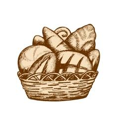 Bread basket vector