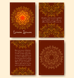 brochure flyers template with eastern motifs vector image