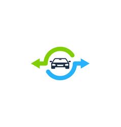 Car share logo icon design vector