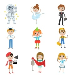 Children Future Profession Collection vector