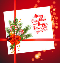 christmas holiday decor card vector image