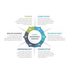 circle infographics - six elements vector image