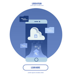 cloud computing concept - connect devices to vector image