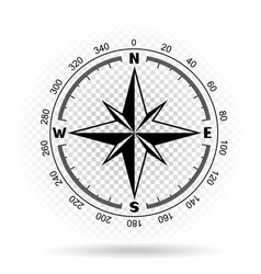 Compass directions transparent background vector
