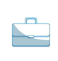 Contour suitcase to save business documents vector