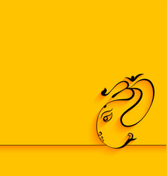 Creative lord ganesha design on yellow background vector