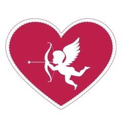 Cupid angel love card vector