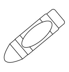 Cute crayon cartoon vector