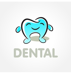 dental tooth smile symbol emblem sign vector image