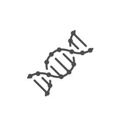 dna molecule line outline icon vector image