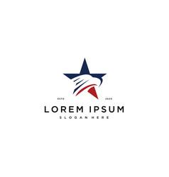 Eagle star logo icon design template vector