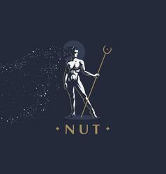 egyptian goddess nut vector image