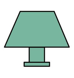 elegant table lamp icon vector image