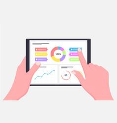 finance statistics report business statistics vector image