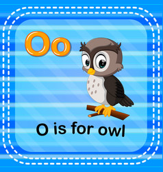 Flashcard letter o is for owl vector