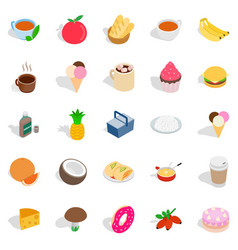 Frill icons set isometric style vector