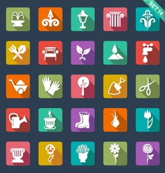 Gardening icons- flat design vector