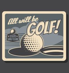 Golf club professional sport championship vector