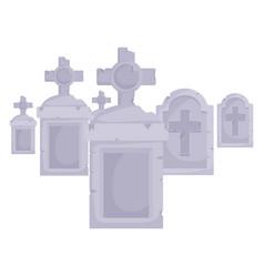 Halloween graves design vector