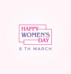 happy womens day banner design vector image