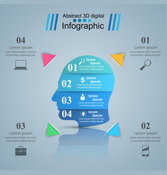 Head icon business infographics vector