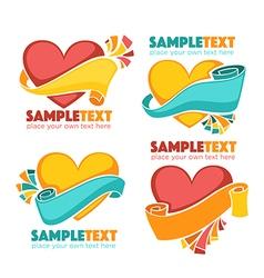 Hearts labels vector