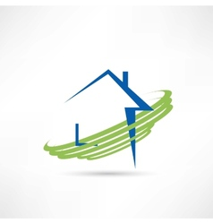 House of eco technologies icon vector