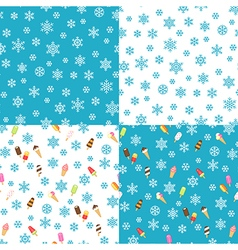 Icecream patterns vector