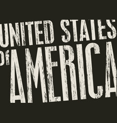Inscription united stated america in grunge vector