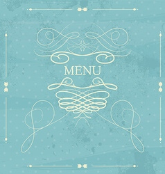 label for restaurant menu design element vector image
