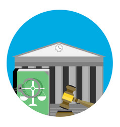 Legal punishment icon vector