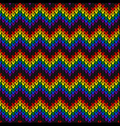 lgbtq color abstract knitted pattern rainbow vector image