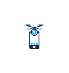 mobile drone logo icon design vector image