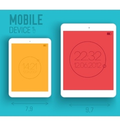 mobile electronic devices on flat vector image