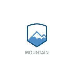 Mountain shield logo vector