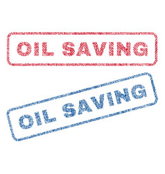 oil saving textile stamps vector image
